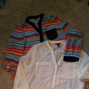 Women's sheer blouses size L